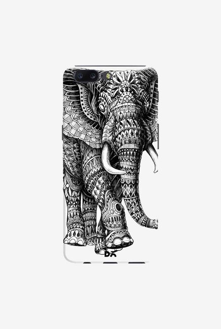 DailyObjects Ornate Black Elephant Case Cover For OnePlus 5