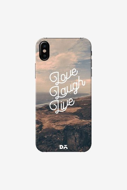 DailyObjects Love Laugh Live Case Cover For iPhone XS