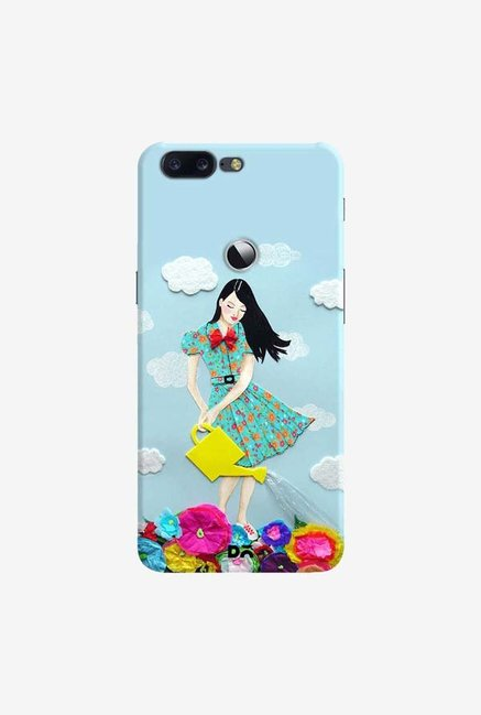 DailyObjects Girl In Flowerland Case Cover For OnePlus 5T