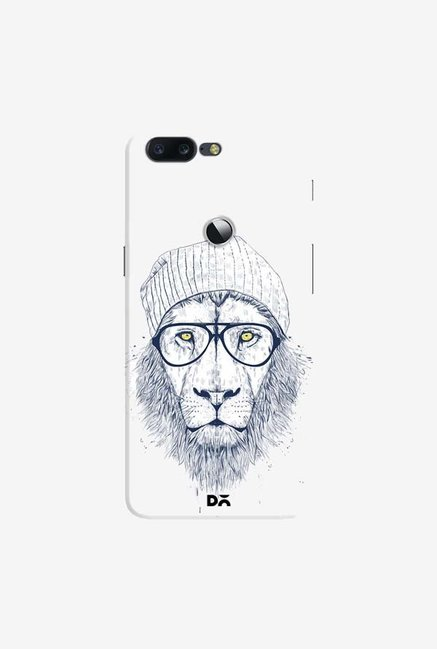 DailyObjects Cool Lion White Case Cover For OnePlus 5T