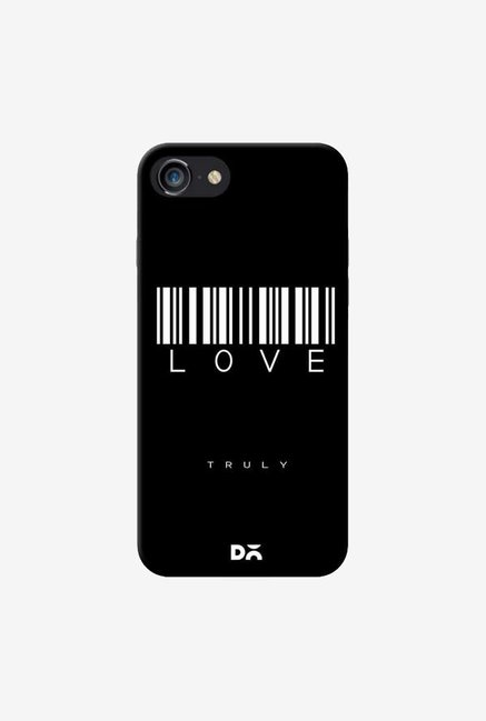 DailyObjects Barcode Love Truly Black Case For iPhone 7