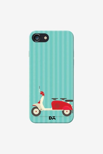 DailyObjects 3 To Go Scooter Blue Striped Case For iPhone 7