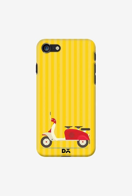 DailyObjects 3 To Go Scooter Yellow Striped Case For iPhone 7