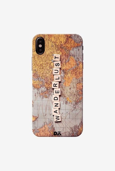 DailyObjects Wanderlust Map Case Cover For iPhone XS