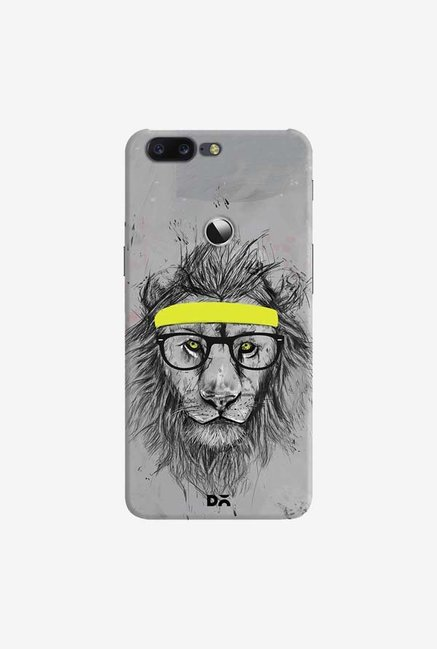 DailyObjects Hipster Lion Case Cover For OnePlus 5T