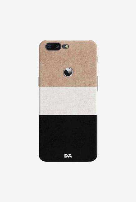 DailyObjects Natural Cream and Black Case Cover For OnePlus 5T