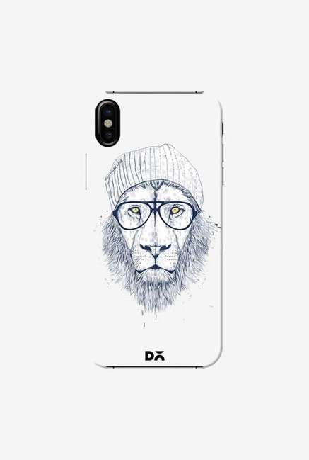 DailyObjects Cool Lion White Case Cover For iPhone XS