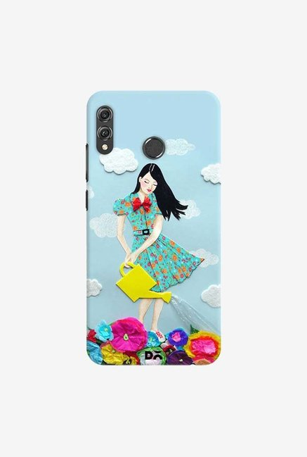DailyObjects Girl In Flowerland Case Cover For Huawei Honor 8X
