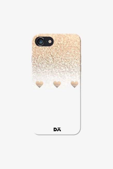 DailyObjects Gatsby Gold Ombre White Hearts Case For iPhone 7