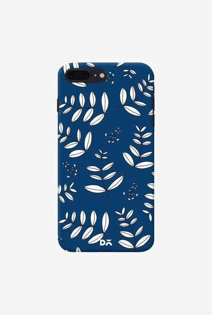 DailyObjects Botanical Leaves Blue Case Cover For iPhone 8 Plus