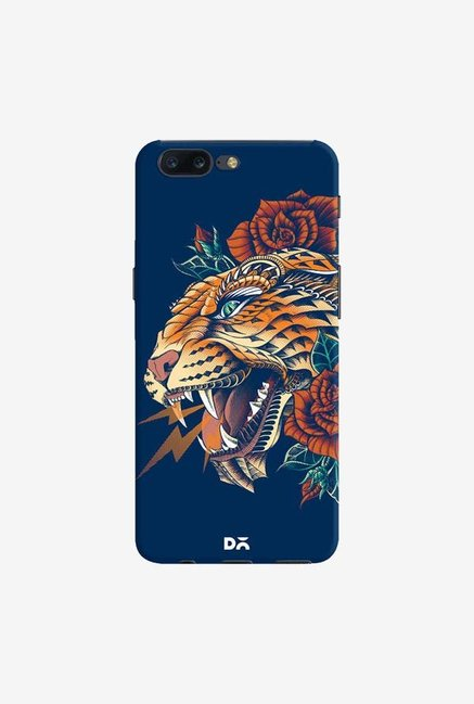 DailyObjects Ornate Leopard Blue Case Cover For OnePlus 5