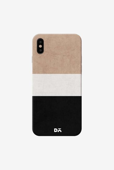 DailyObjects Natural Cream and Black Case Cover For iPhone XS