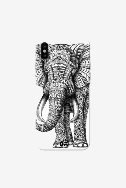 DailyObjects Ornate Elephant Case Cover For iPhone XS