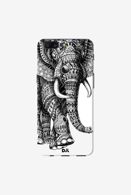 DailyObjects Ornate Black Elephant Case Cover For OnePlus 5T