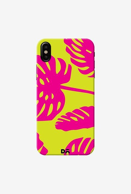 DailyObjects Palms Bright Pink Case Cover For iPhone XS