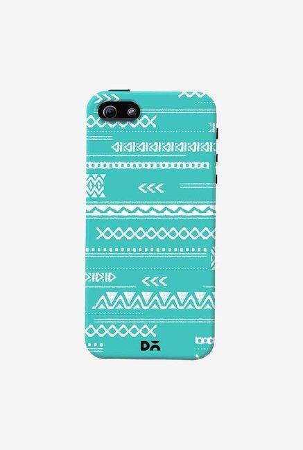 DailyObjects Modern Aztec Blue Case Cover For iPhone 5/5S