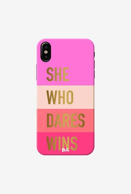 DailyObjects She Who Dares Wins Case Cover For iPhone XS