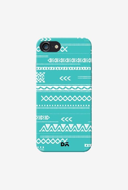 DailyObjects Modern Aztec Blue Case Cover For iPhone 8