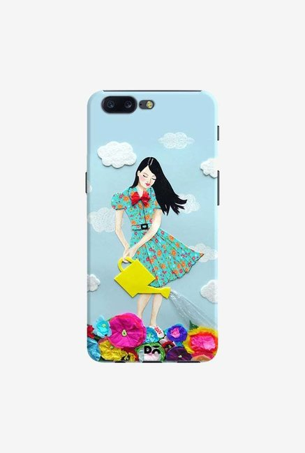 DailyObjects Girl In Flowerland Case Cover For OnePlus 5