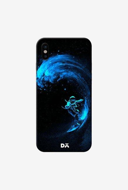 DailyObjects Space Surfing Blue Case Cover For iPhone XS