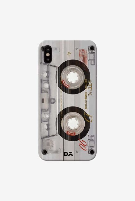 DailyObjects Transparent Cassette Case Cover For iPhone XS