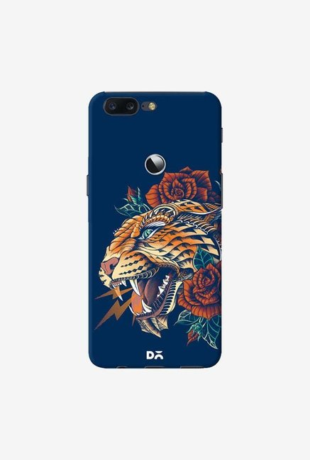 DailyObjects Ornate Leopard Blue Case Cover For OnePlus 5T