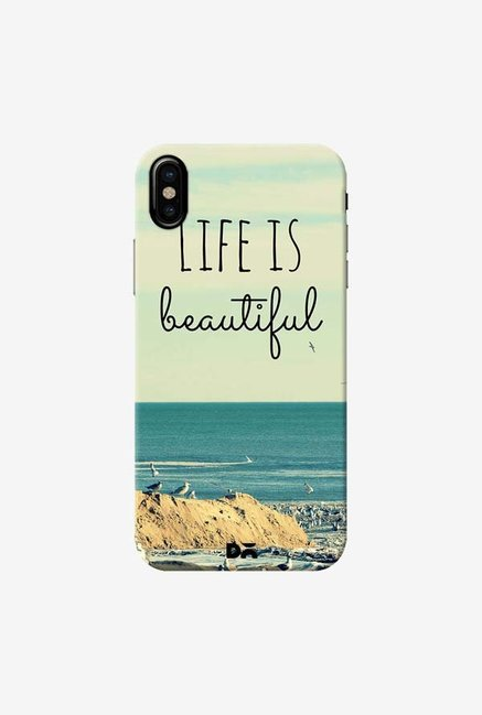 DailyObjects Life Is Beautiful Case Cover For iPhone X