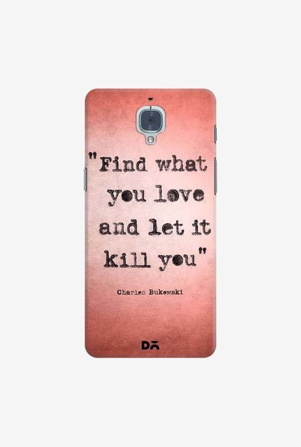 DailyObjects Bukowski Case Cover For OnePlus 3T