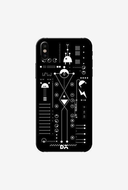 DailyObjects Cosmo Series Black Case Cover For iPhone XS