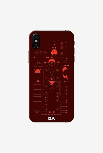 DailyObjects Cosmo Series Brown Case Cover For iPhone XS