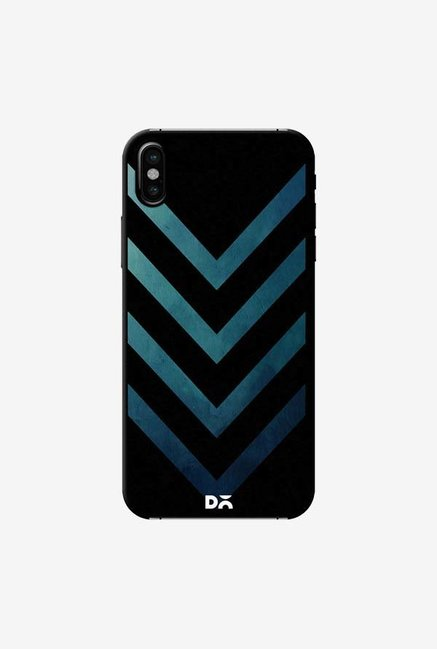 DailyObjects Dark Blue Arrow Case Cover For iPhone XS