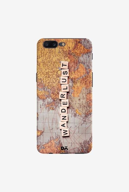 DailyObjects Wanderlust Map Case Cover For OnePlus 5