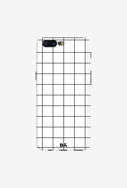 DailyObjects Grid White Case Cover For OnePlus 5