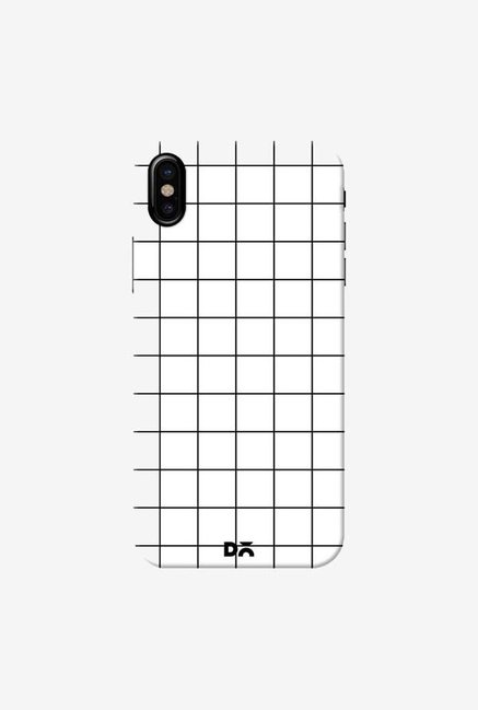 DailyObjects Grid White Case Cover For iPhone X