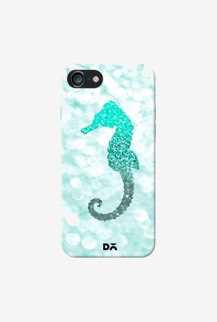 DailyObjects Champagne Seahorse Aqua Case Cover For iPhone 7