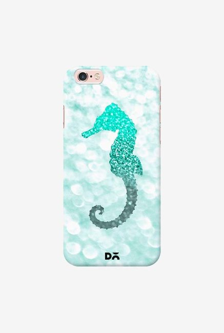DailyObjects Champagne Seahorse Aqua Case Cover For iPhone 6S