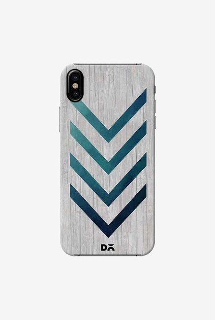 DailyObjects Blue Arrow Case Cover For iPhone X