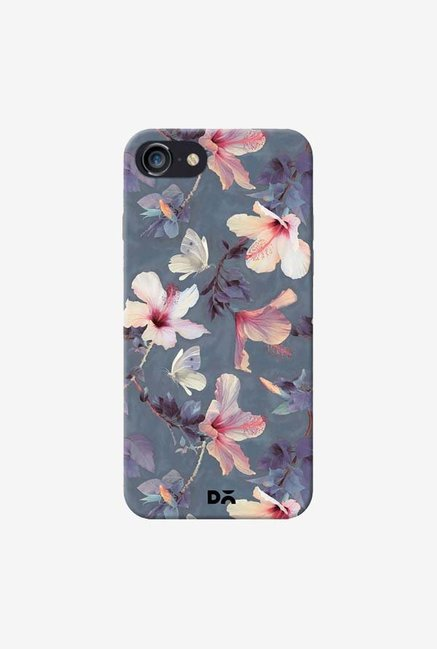 DailyObjects Butterflies And Hibiscus Flowers Case For IPhone 7