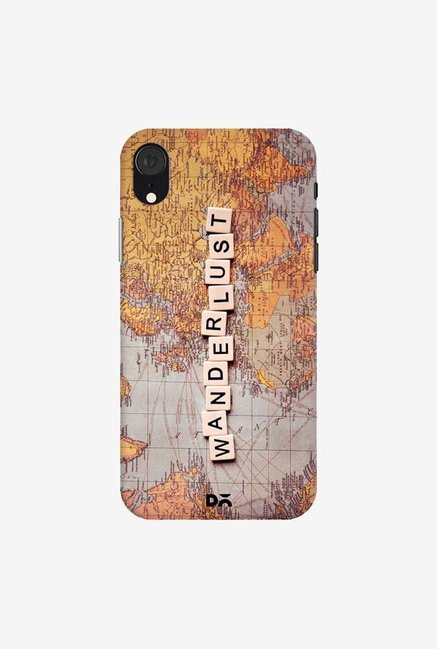 DailyObjects Wanderlust Map Case Cover For iPhone XR