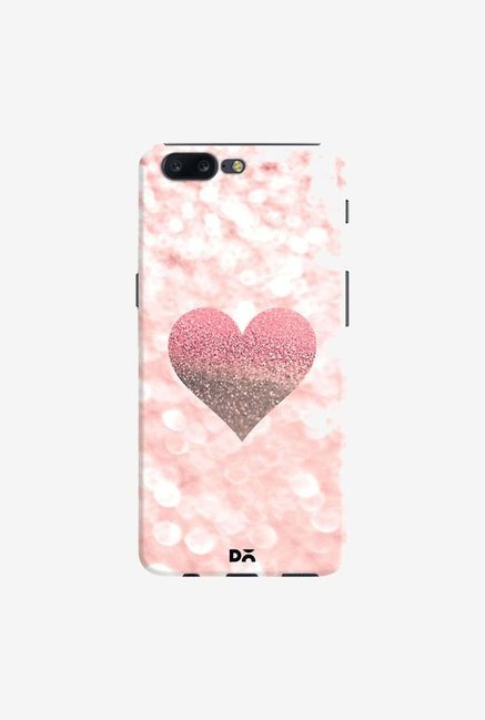DailyObjects Champagne Heart Rose Case Cover For OnePlus 5