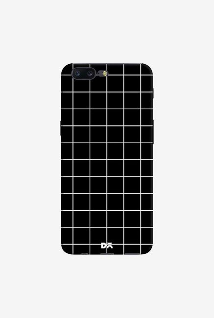 DailyObjects Grid Black Case Cover For OnePlus 5
