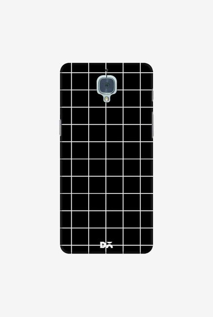 DailyObjects Grid Black Case Cover For OnePlus 3T