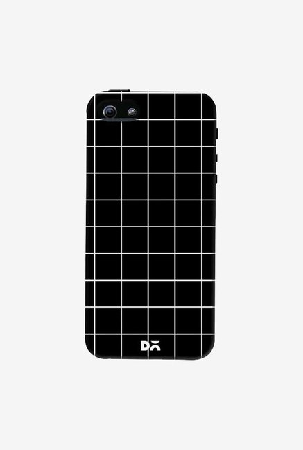 DailyObjects Grid Black Case Cover For iPhone 5/5S