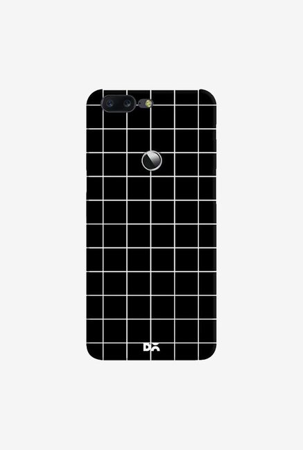 DailyObjects Grid Black Case Cover For OnePlus 5T