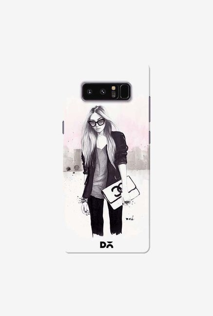 DailyObjects Back In Black Case Cover For Samsung Galaxy Note 8
