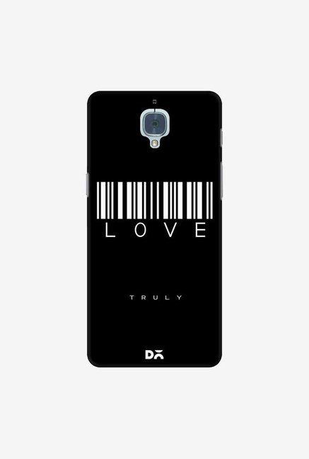 DailyObjects Barcode Love Truly Black Case Cover For OnePlus 3T