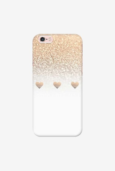 DailyObjects Gatsby Gold Ombre White Hearts Case For iPhone 6s