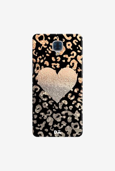 DailyObjects Gold Heart Leo Black Case For OnePlus 3T