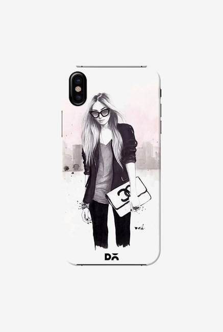 DailyObjects Back In Black Case Cover For iPhone X
