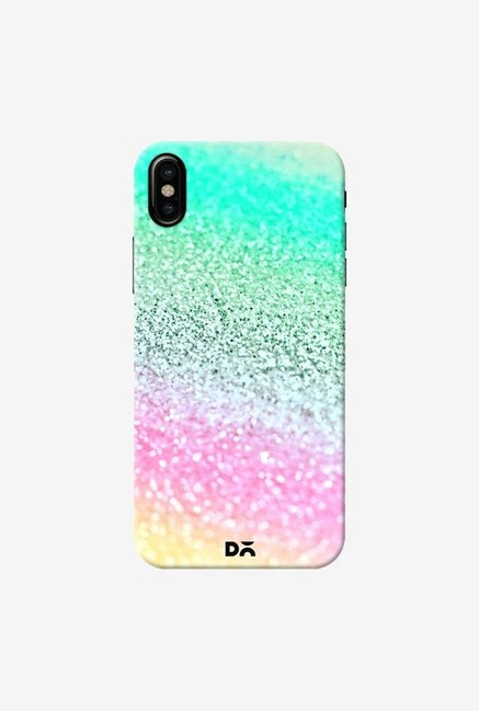 DailyObjects Unicorn Rainbow Glitter Case Cover For iPhone X